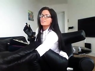 Milf In Glasses Smoking In Sexy Government worker