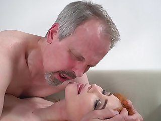 Blistering old guy has unforgettable sex with wife's cute stepdaughter
