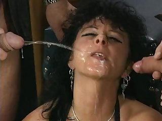 Kinky venerable german sluts pissing gangbang porn video