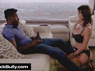 Lucky black dude and hot blooded glamour MILF