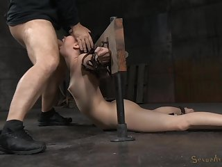 She's zoological gagged and ass fucked while unexceptionally restrained