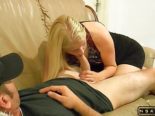 StepMom Seduces StepSon for ASS full of Flannel and Mouth full of CUM