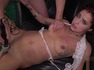 Stockinged kinky slut gets plowed