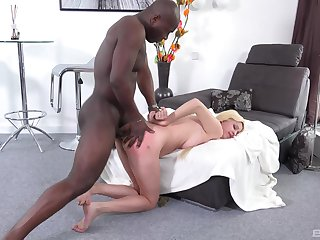 Blondie feels the black stud dominating say no to ass in merciless XXX