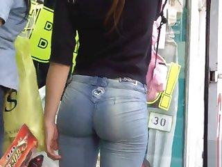 Beautiful butt on street
