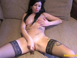 Bit agent with a large penis destroyes pussy of Gina Lynn Jameson
