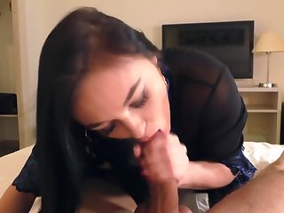 Kiara Gold eagerly sucks cock and rides on it