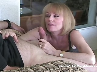 Wicked Blue Melanie giving a really classy blowjob here
