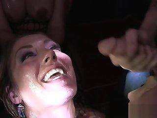 Sexy Sheena Shaw enjoying hardcore bukkake