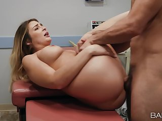 Aroused MILF gets laid regarding her physician after he teases her a volume