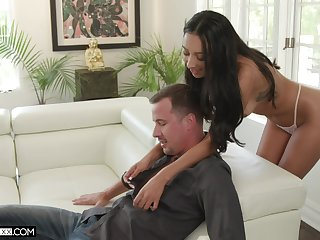 Tanned big-time operator Kiarra Kai gives a deepthroat blowjob and takes hard penis involving wet pussy