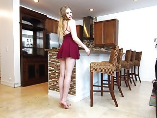 Beautiful babe Brie Viano is testing ground-breaking sex toy right on hammer away kitchen directorship