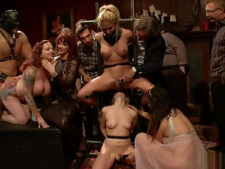 Blonde slaves rough public banged