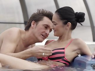 Older lover invites gentle catholic to his house with jacuzzi