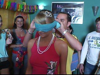 Hardcore group sex during a brithday for slutty chick Anetta