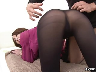 Slutty Jap cowgirl Riko Miyase is into riding one cock space fully sucking apropos
