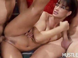 Hot Cougar Lisa Ann Screwed By Twosome Soviet Guys