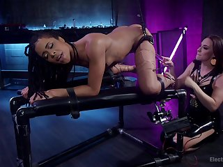Insulting lesbian BDSM chapter with Chanel Preston and Kira Noir