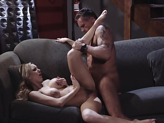 Premium woman spreads for the vitalized dick of this older man