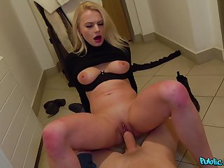 Never achieving hard sex for top-hole with a Russian blonde
