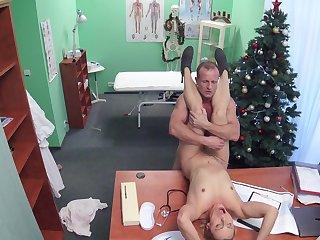 Marvelous hidden cam scenes with one slutty patient