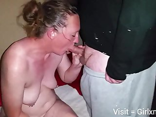 Mature white wife prevalent hubby added to black bull