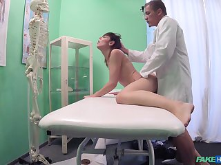 Taciturn cam reveals the doctor treating young patient with sex