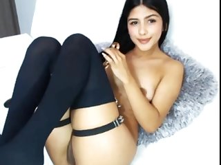 Busty latina having fun with toys on webcam live :)