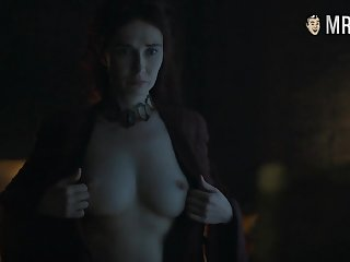 Red witch Melisandre Carice Van Houten flaunting her big tits