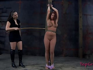 Sarah Blake can't move an inch while her mistress is using her