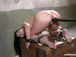 Anal with the fucking gear as follows submissive brunette girl
